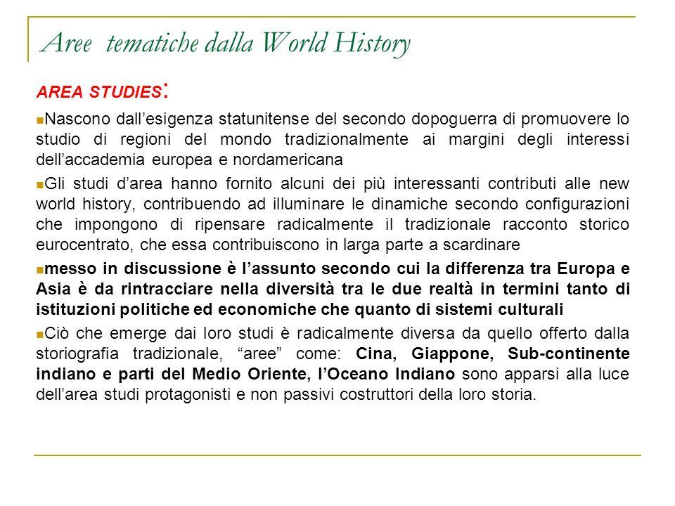 Aree tematiche dalla World History