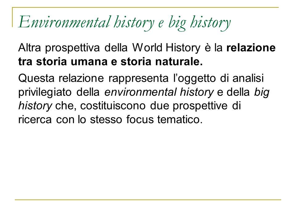 Environmental history e big history