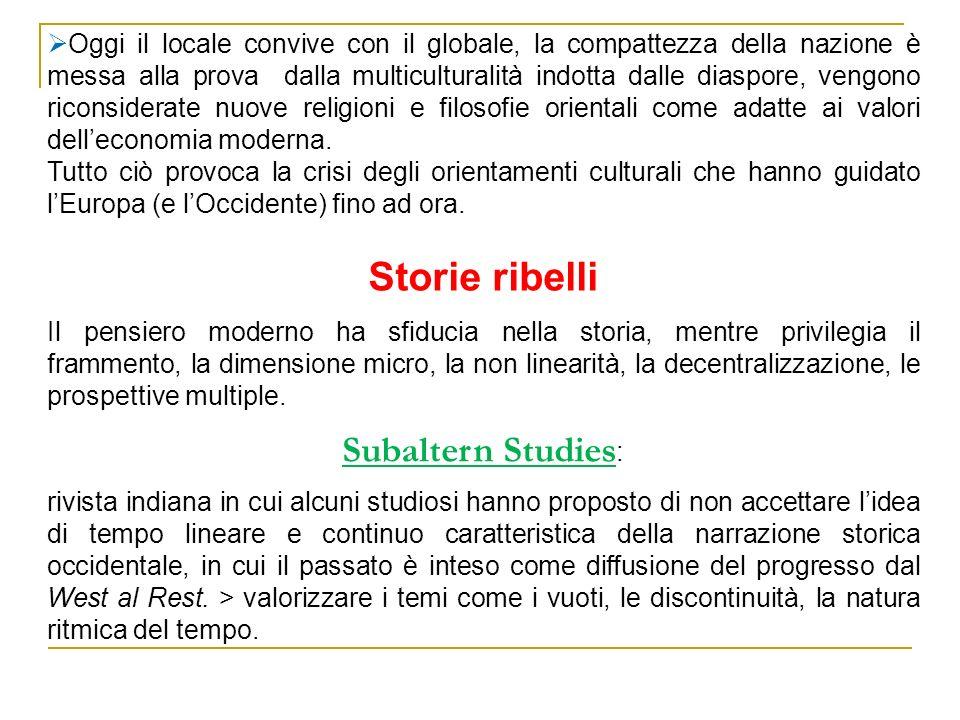 Storie ribelli Subaltern Studies: