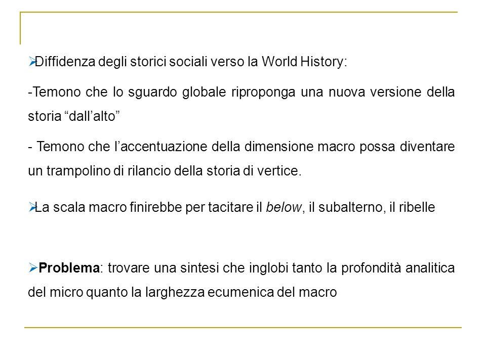 Diffidenza degli storici sociali verso la World History: