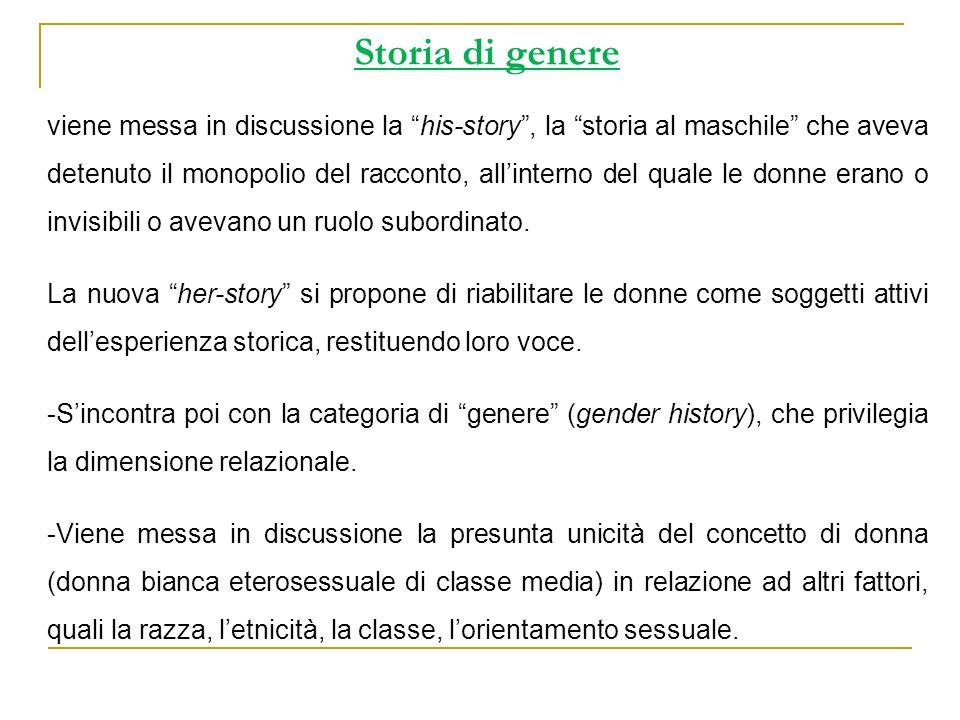 Storia di genere