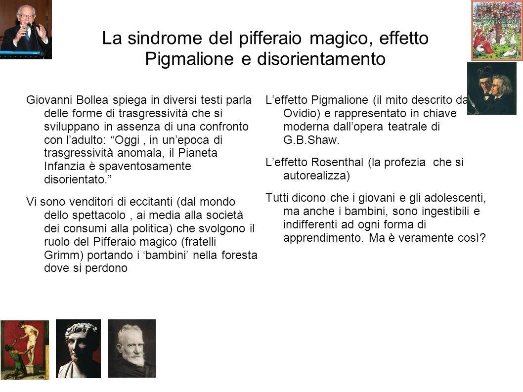 La sindrome del pifferaio magico, effetto Pigmalione e disorientamento