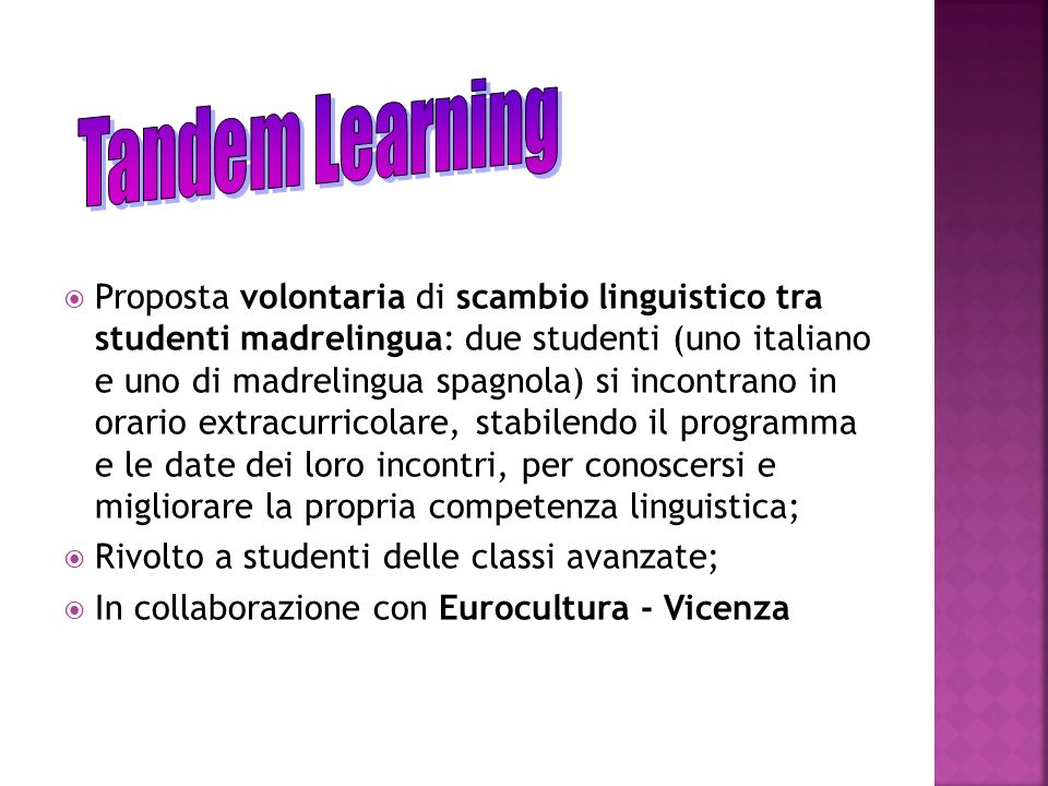 Tandem Learning