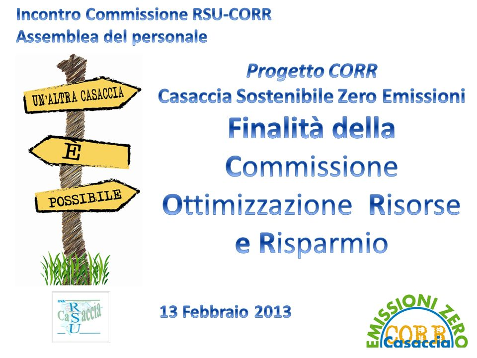 Incontro Commissione RSU-CORR