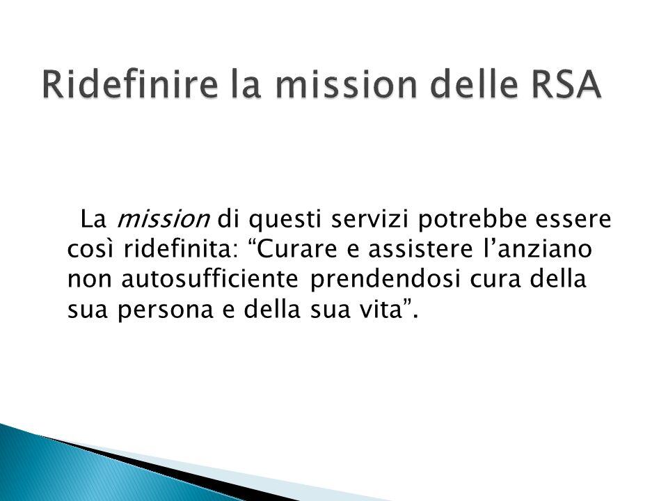 Ridefinire la mission delle RSA