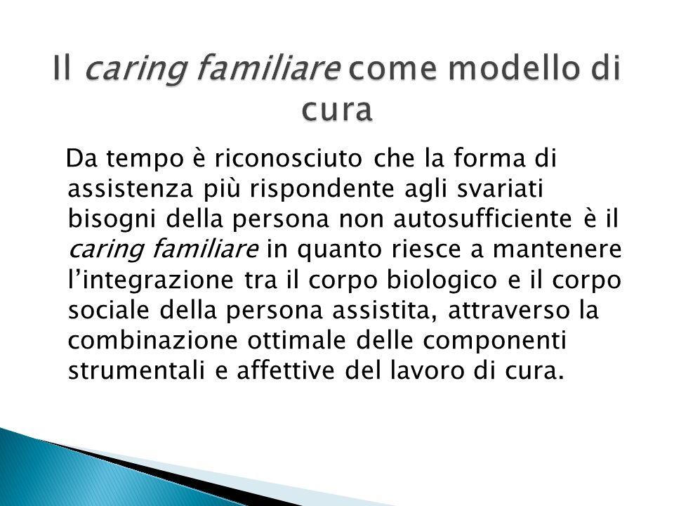Il caring familiare come modello di cura