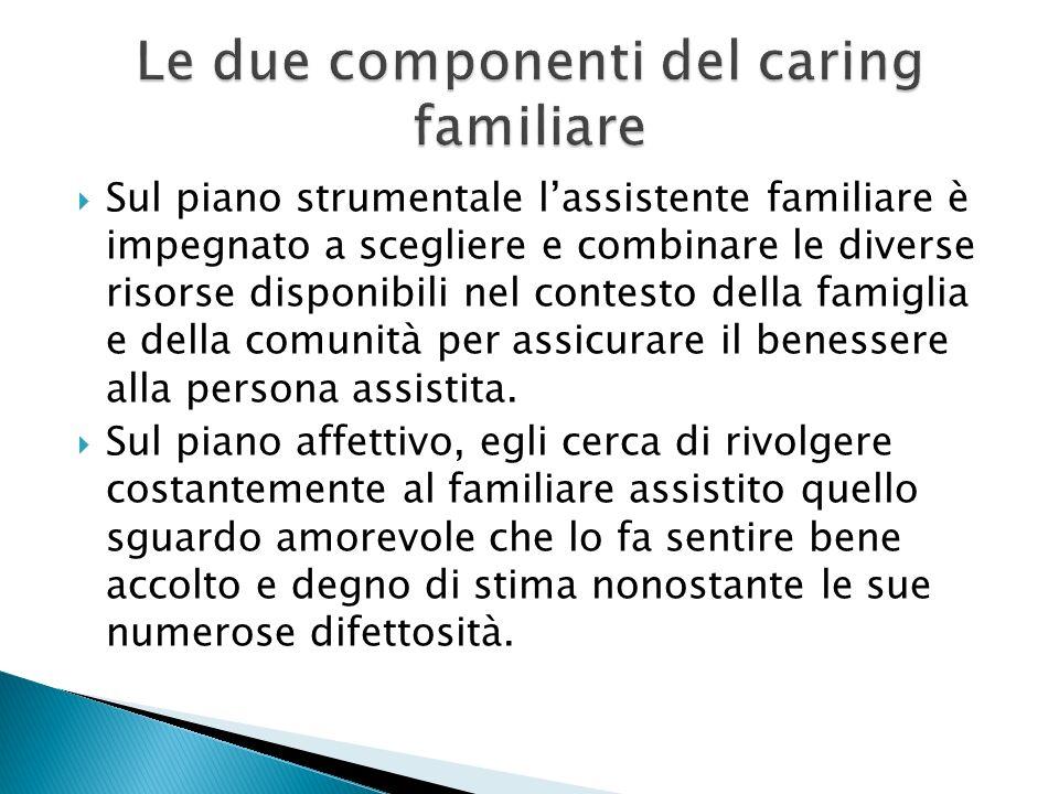 Le due componenti del caring familiare