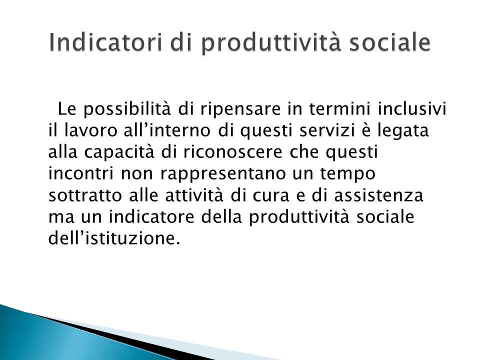 Indicatori di produttività sociale
