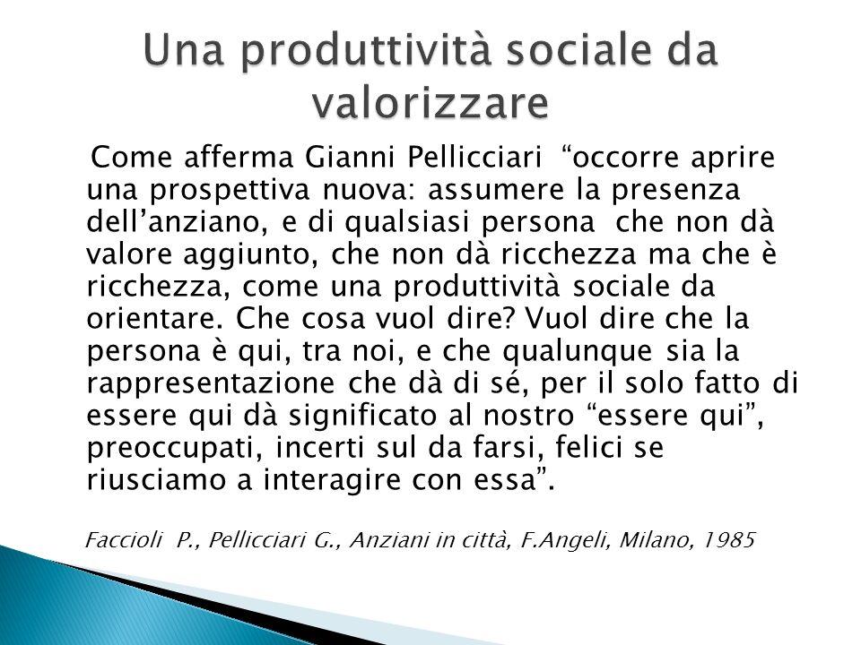 Una produttività sociale da valorizzare