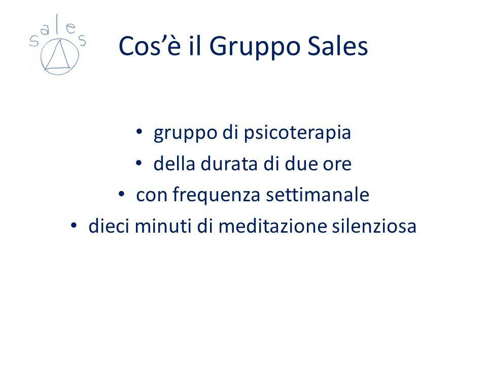 Cos'è il Gruppo Sales gruppo di psicoterapia della durata di due ore