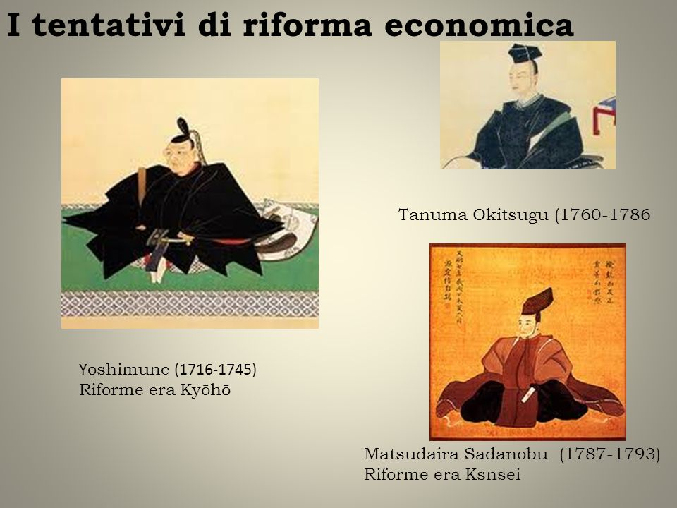 I tentativi di riforma economica