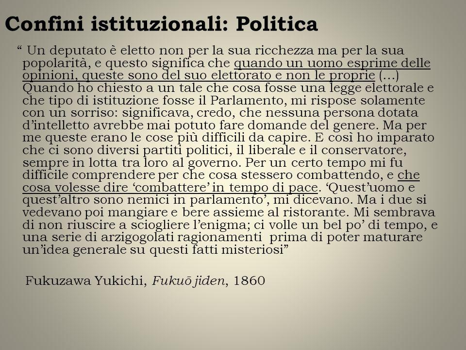 Confini istituzionali: Politica