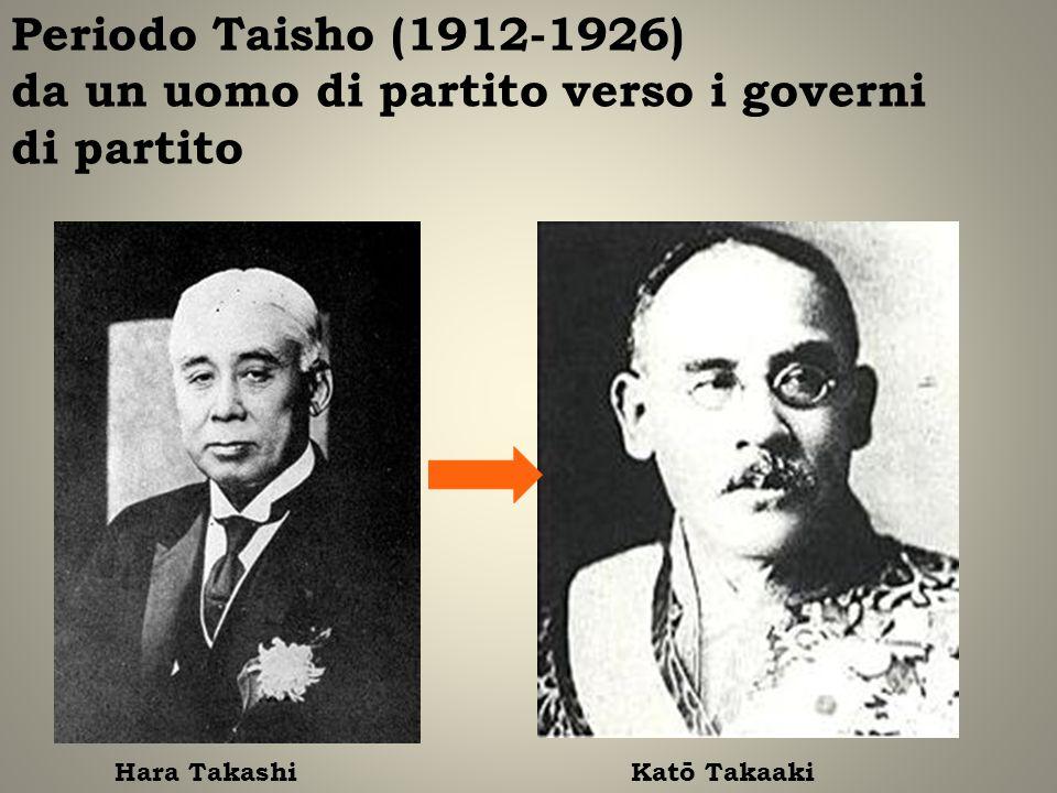 Periodo Taisho (1912-1926) da un uomo di partito verso i governi di partito
