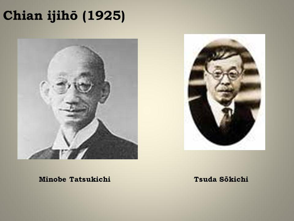 Chian ijihō (1925) Minobe Tatsukichi Tsuda Sōkichi