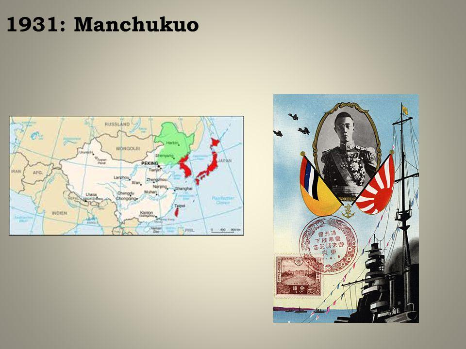 1931: Manchukuo