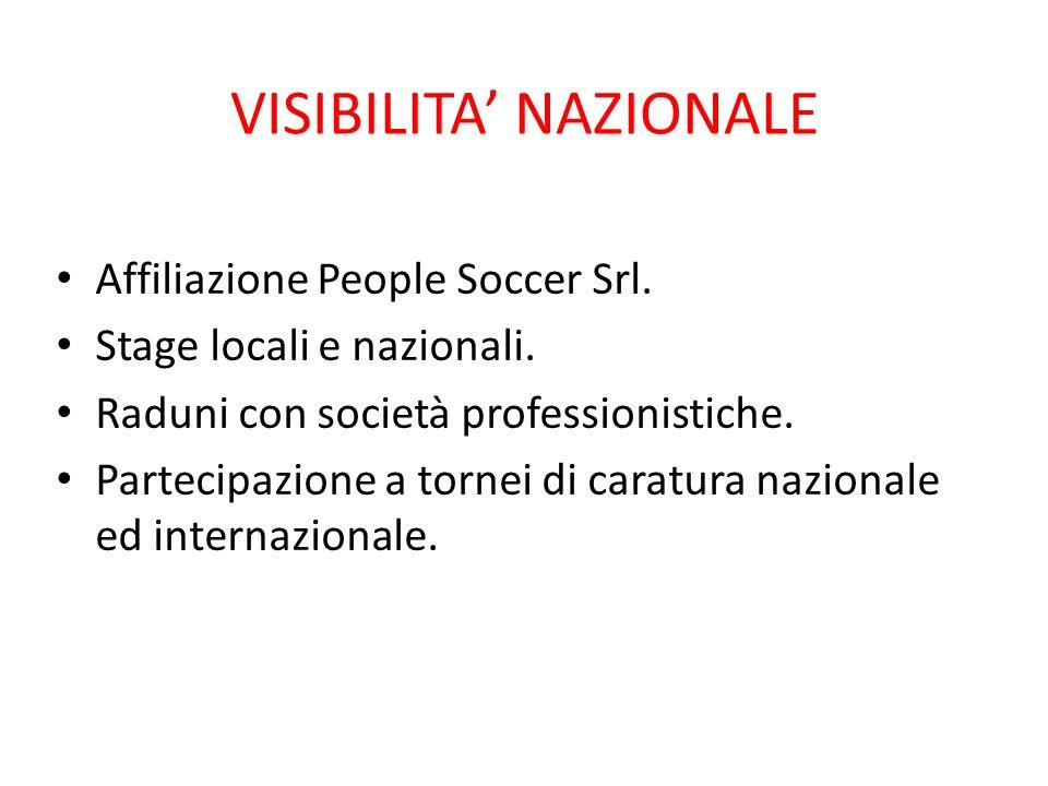 VISIBILITA' NAZIONALE