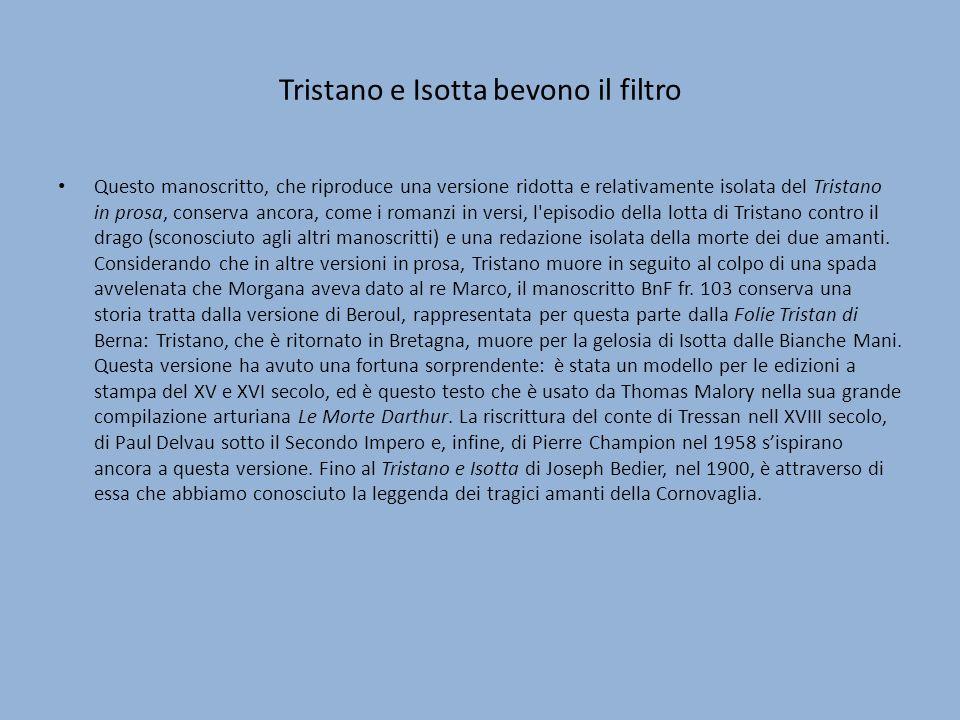 Tristano e Isotta bevono il filtro
