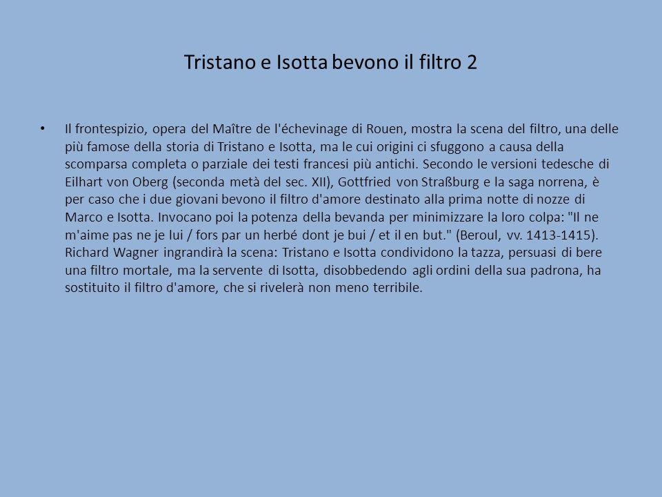 Tristano e Isotta bevono il filtro 2
