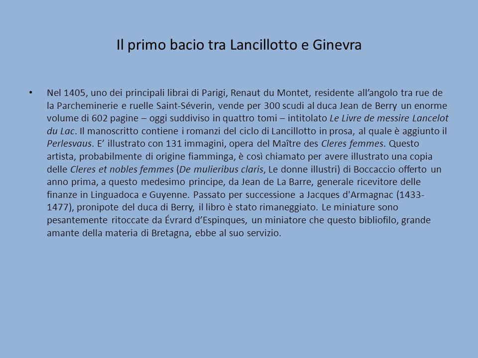 Il primo bacio tra Lancillotto e Ginevra