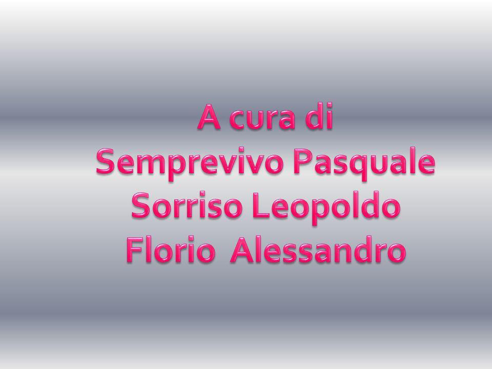 A cura di Semprevivo Pasquale Sorriso Leopoldo Florio Alessandro