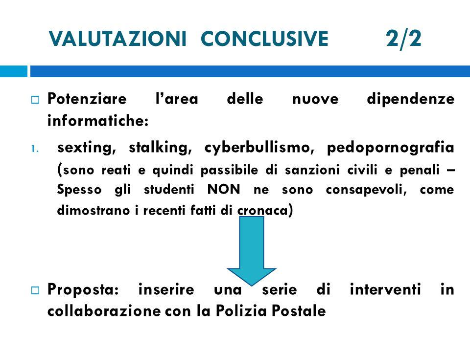 VALUTAZIONI CONCLUSIVE 2/2