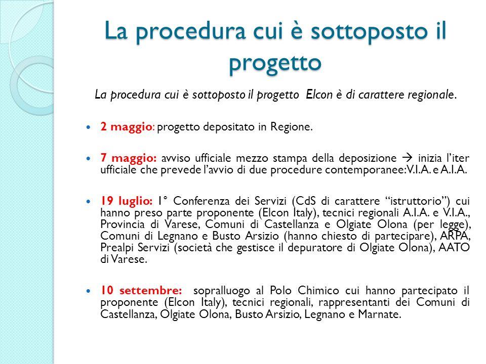 La procedura cui è sottoposto il progetto