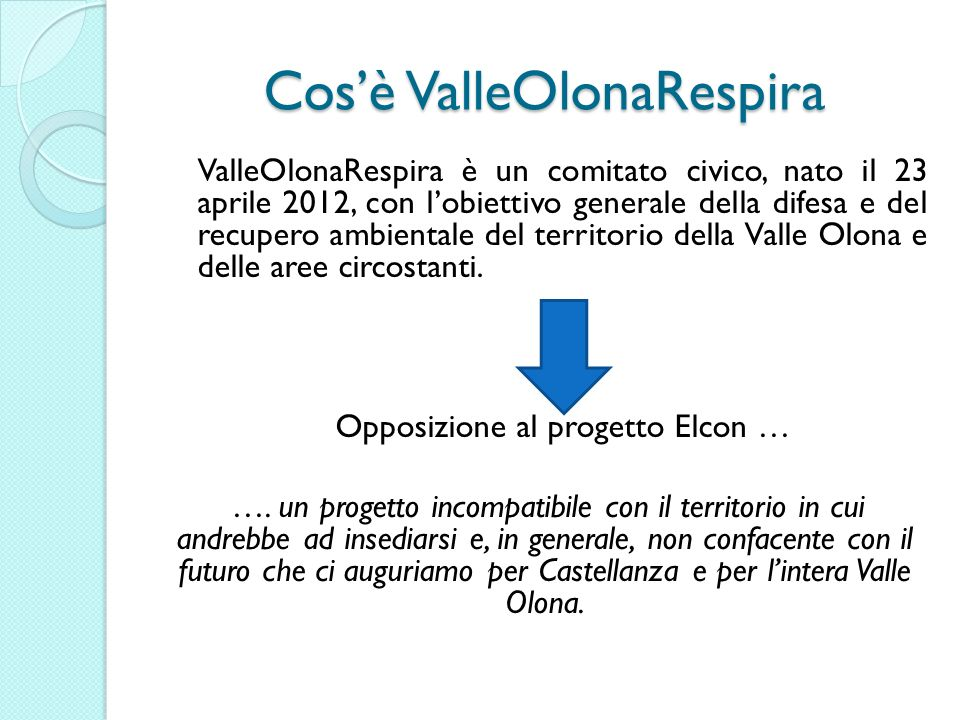 Cos'è ValleOlonaRespira