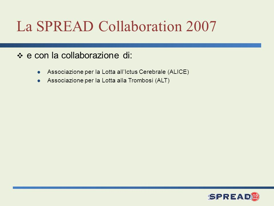 La SPREAD Collaboration 2007