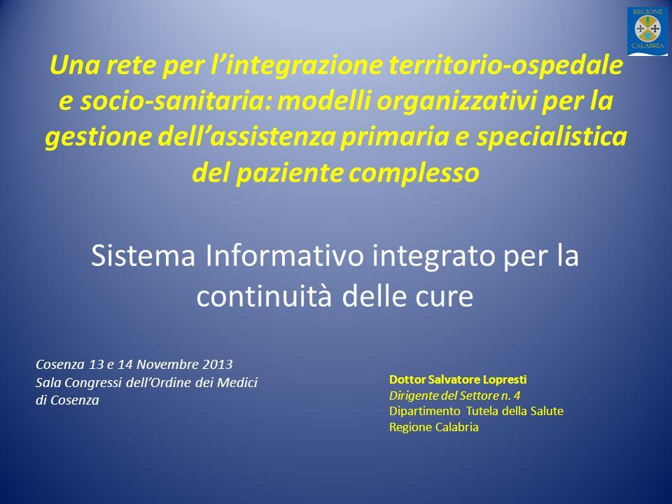 Sistema Informativo integrato per la continuità delle cure