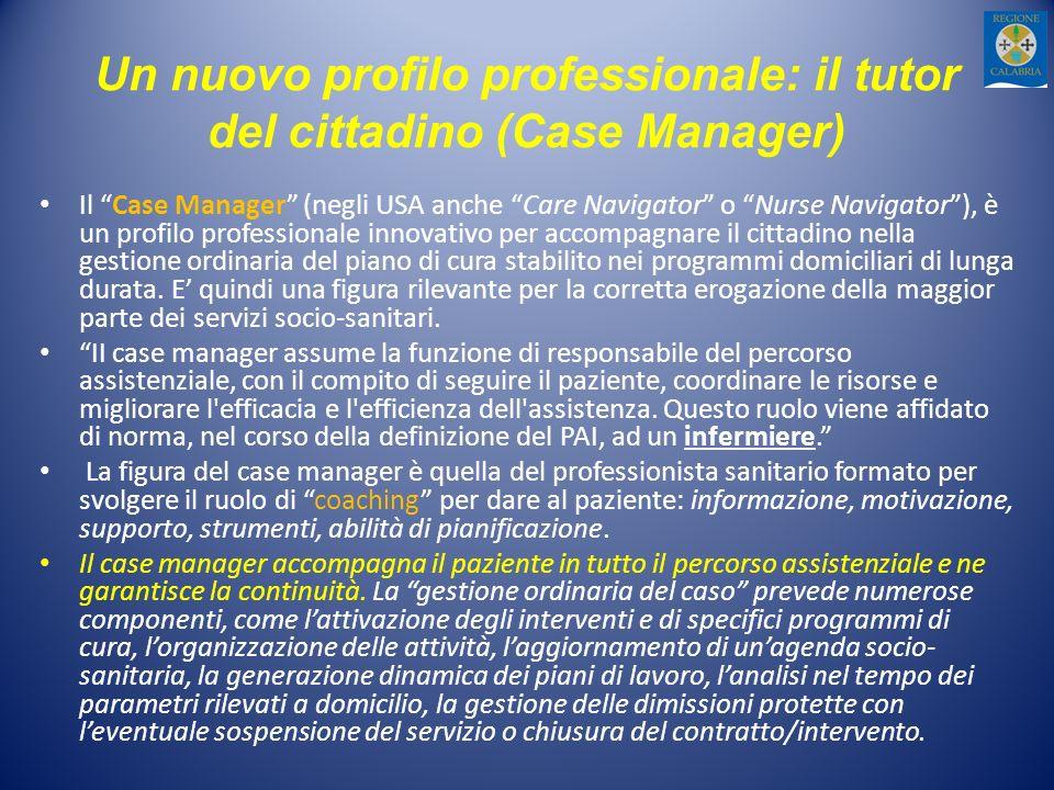 Un nuovo profilo professionale: il tutor del cittadino (Case Manager)