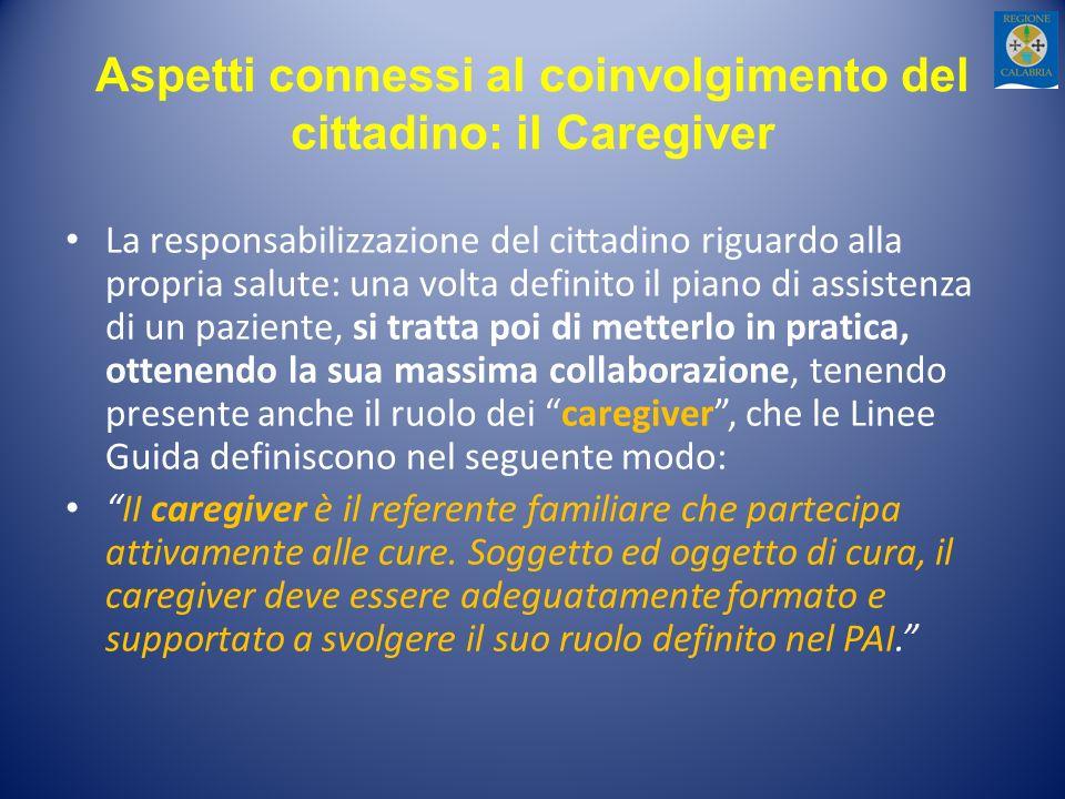 Aspetti connessi al coinvolgimento del cittadino: il Caregiver