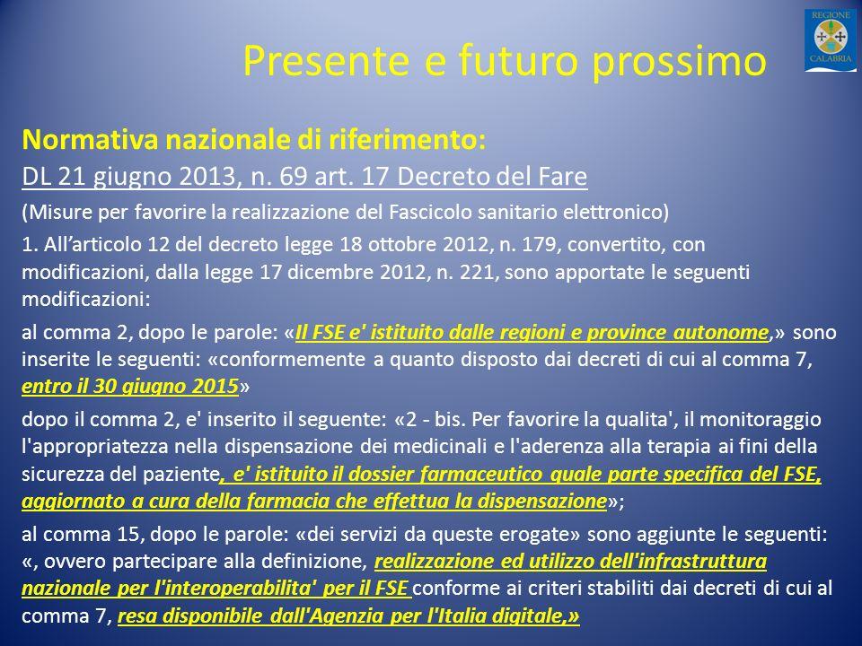 Presente e futuro prossimo