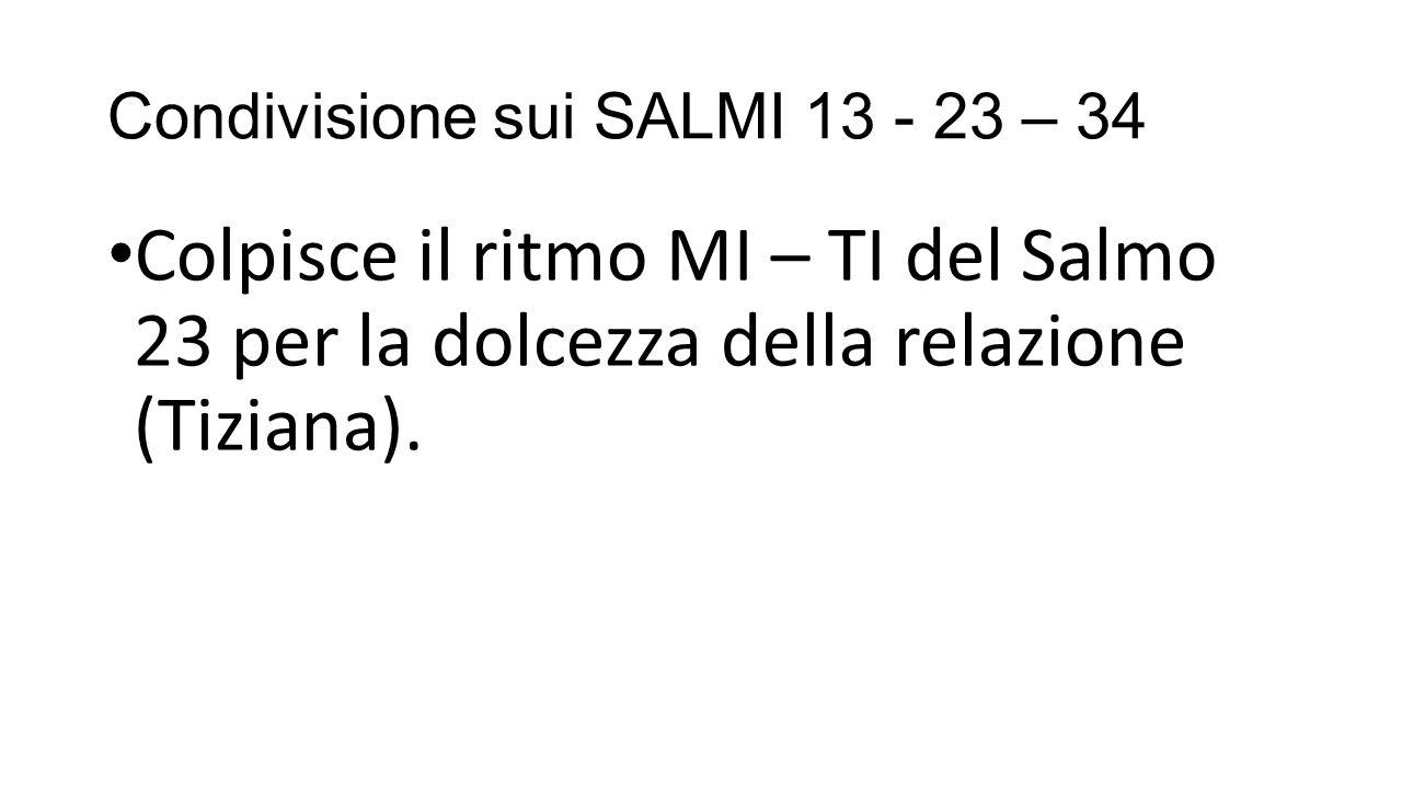 Condivisione sui SALMI 13 - 23 – 34