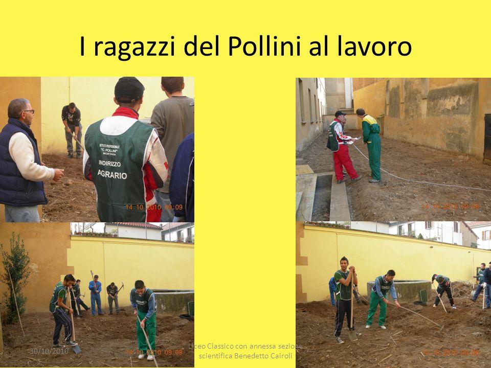 I ragazzi del Pollini al lavoro