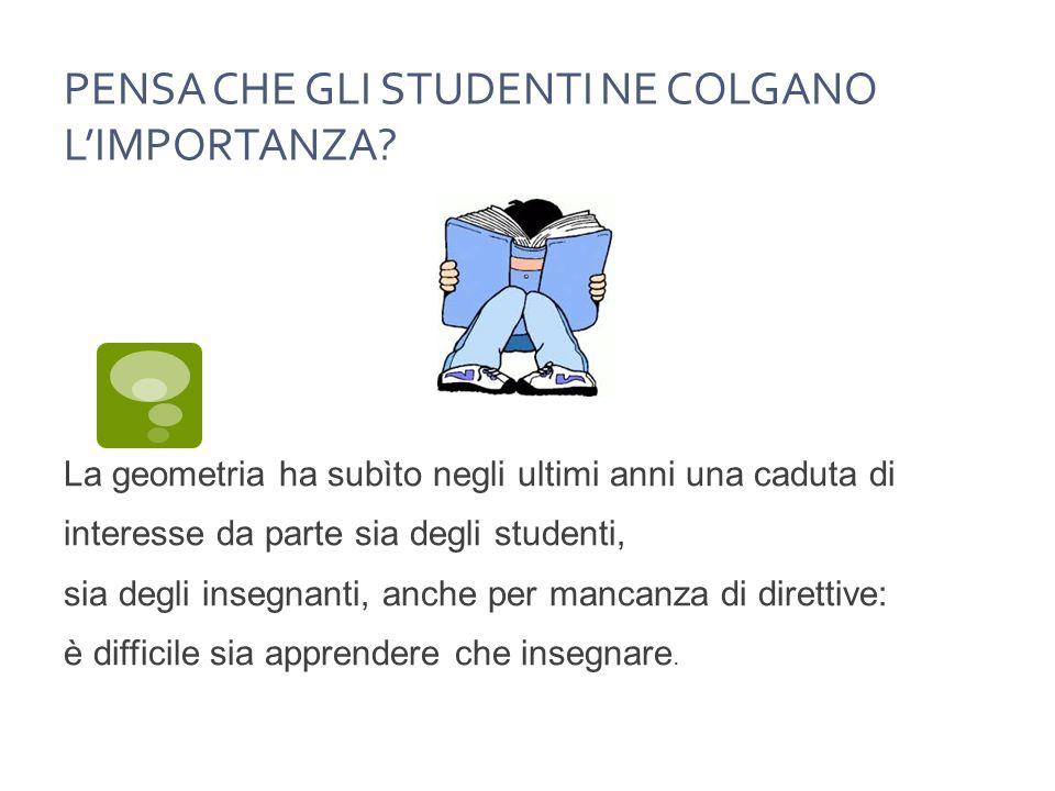 PENSA CHE GLI STUDENTI NE COLGANO L'IMPORTANZA