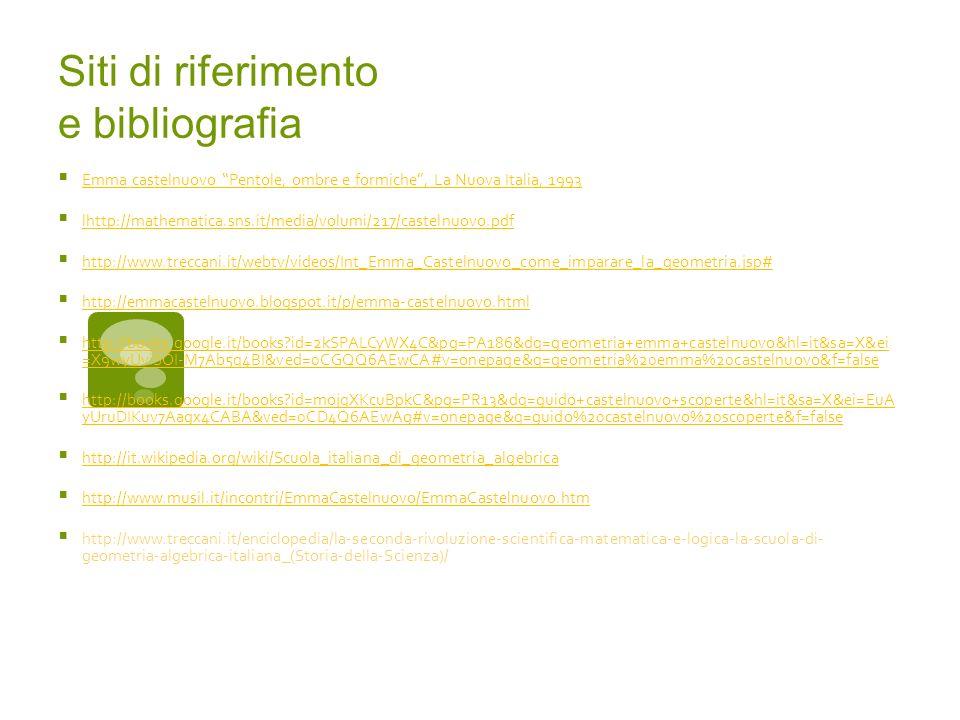 Siti di riferimento e bibliografia