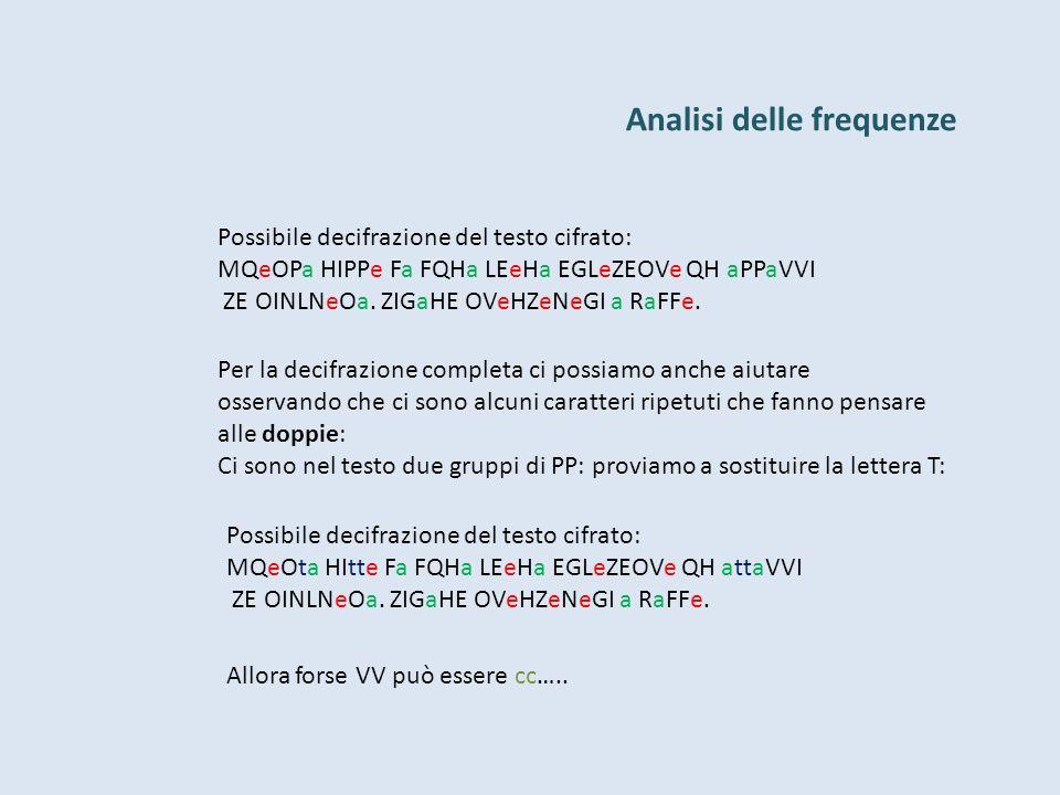 Analisi delle frequenze