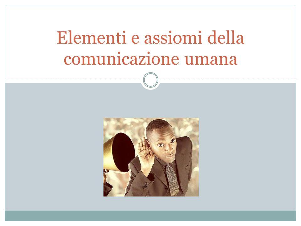 Elementi e assiomi della comunicazione umana