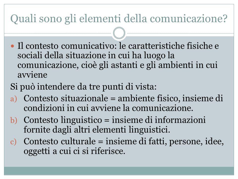 Quali sono gli elementi della comunicazione