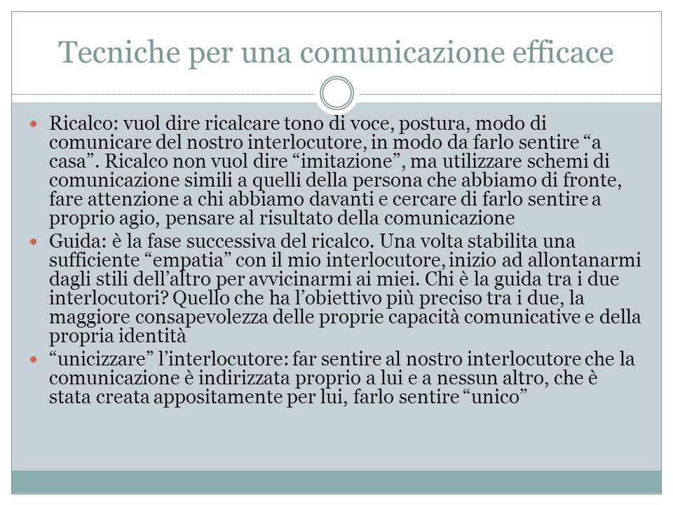 Tecniche per una comunicazione efficace