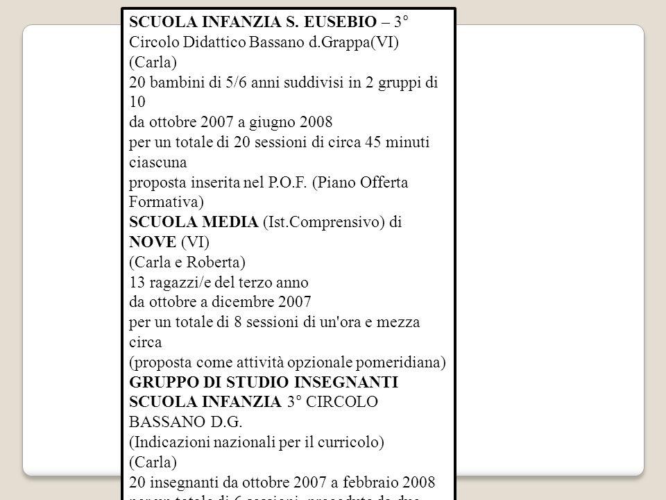 SCUOLA INFANZIA S. EUSEBIO – 3° Circolo Didattico Bassano d.Grappa(VI)