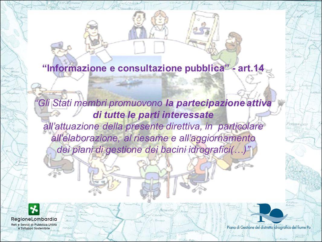 Informazione e consultazione pubblica - art.14