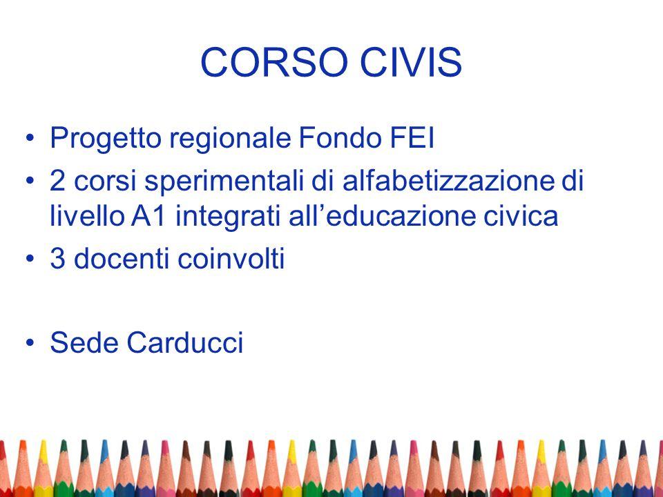 CORSO CIVIS Progetto regionale Fondo FEI