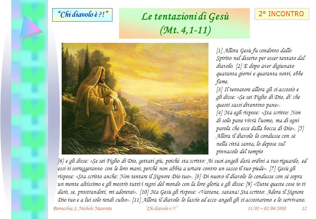 Le tentazioni di Gesù (Mt. 4,1-11)
