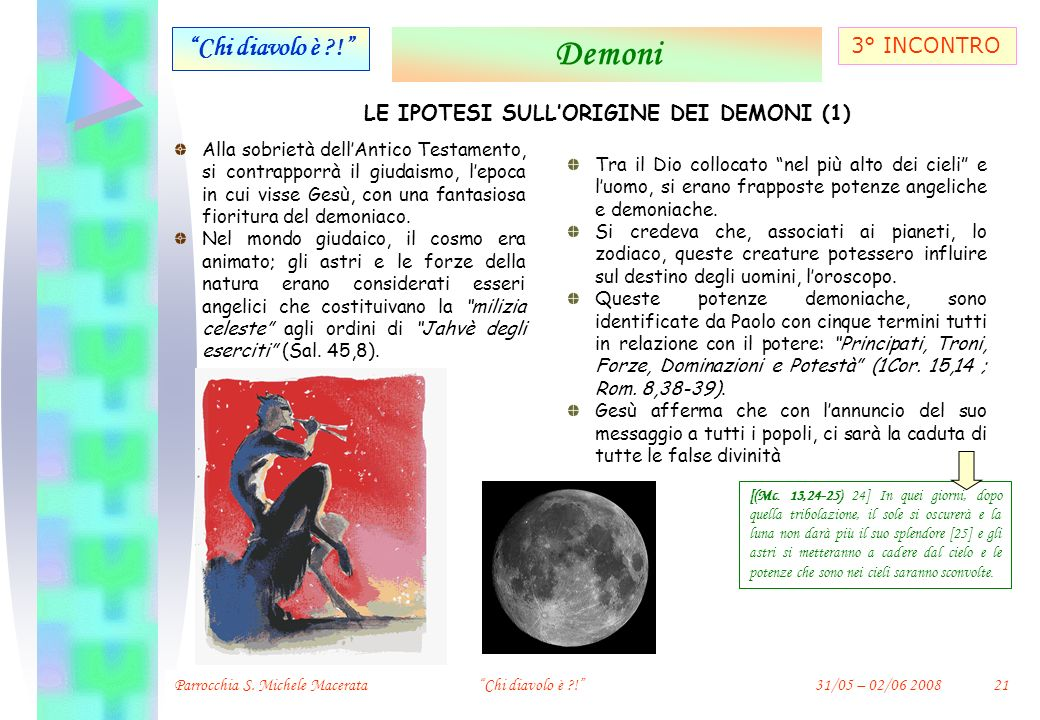LE IPOTESI SULL'ORIGINE DEI DEMONI (1)