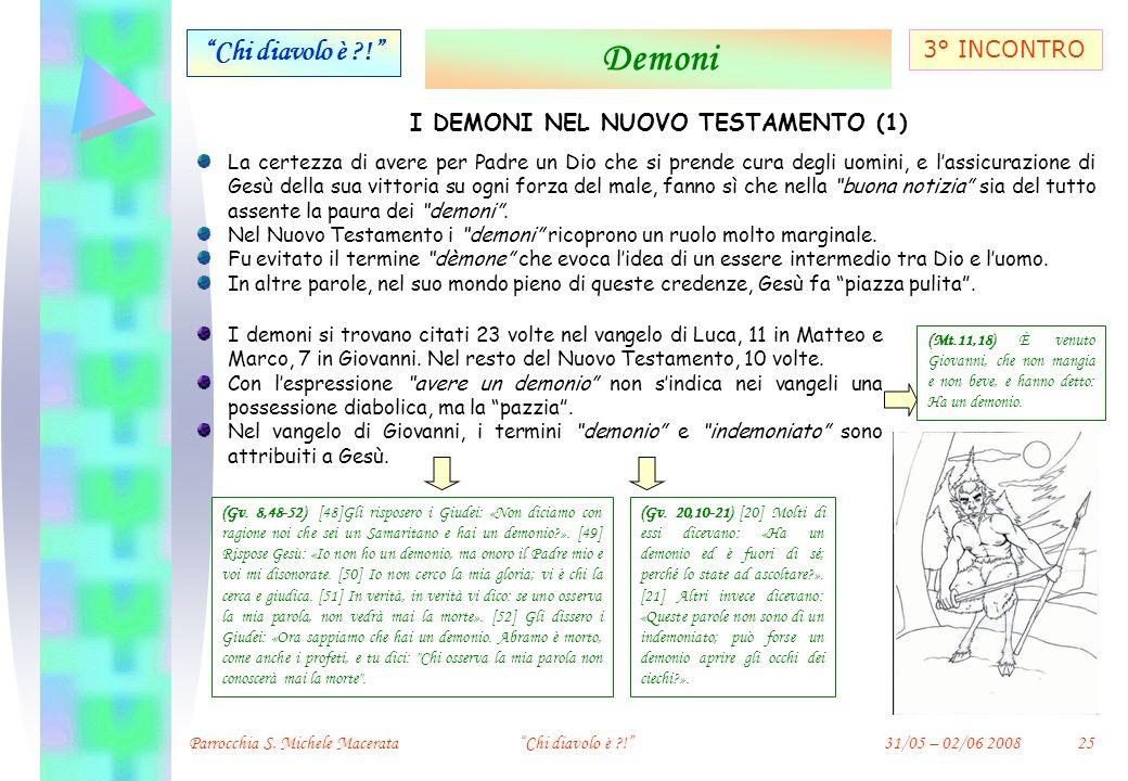 I DEMONI NEL NUOVO TESTAMENTO (1)