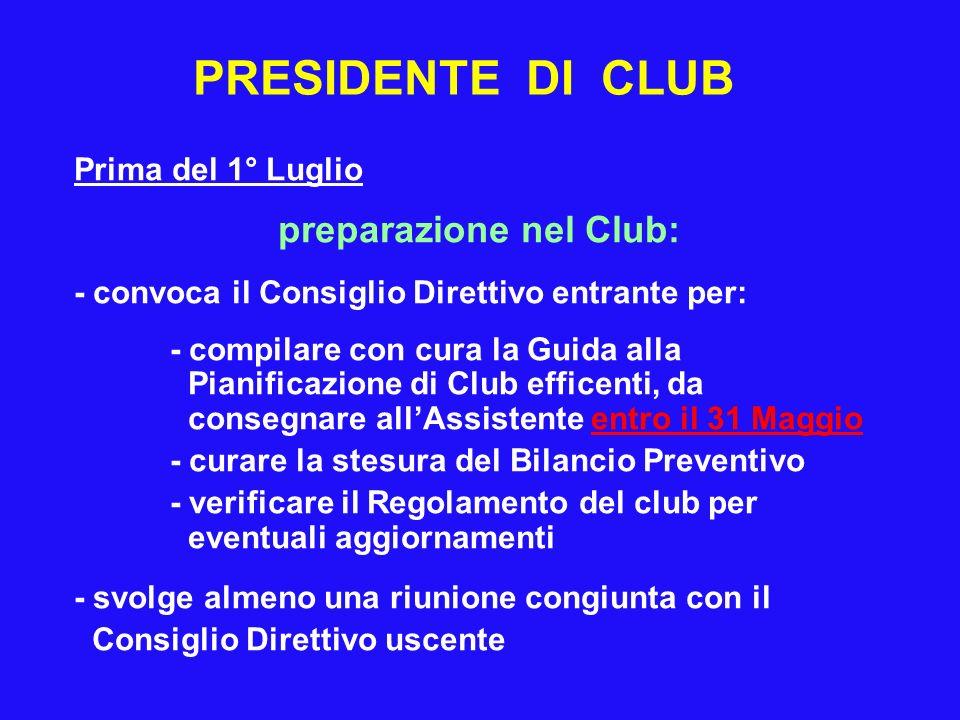 preparazione nel Club: