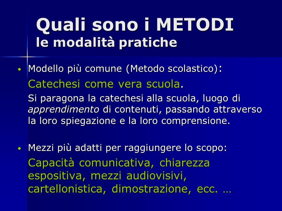 Quali sono i METODI le modalità pratiche
