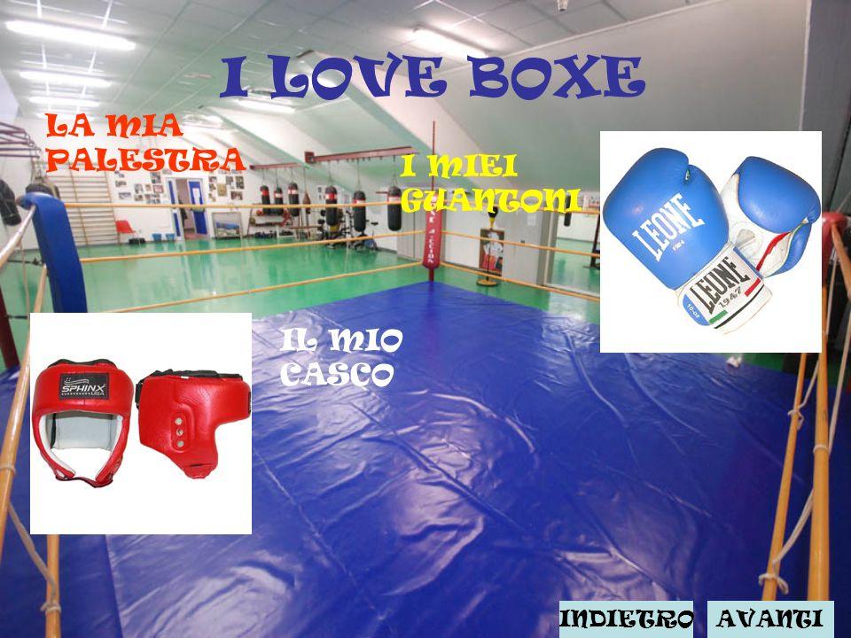 I LOVE BOXE LA MIA PALESTRA I MIEI GUANTONI IL MIO CASCO INDIETRO