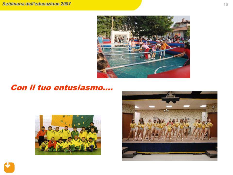 Settimana dell'educazione 2007